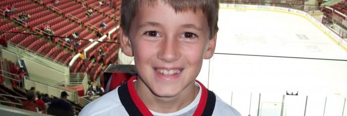 Blake at Hurricanes Game '07