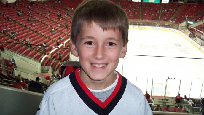 Blake at Hurricanes Game '07